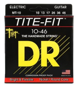 Encordoamento guitarra 010 DR STRINGS - Tite Fit - MT10