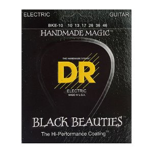 Encordoamento guitarra 010 DR STRINGS -Black Beauties BKE10