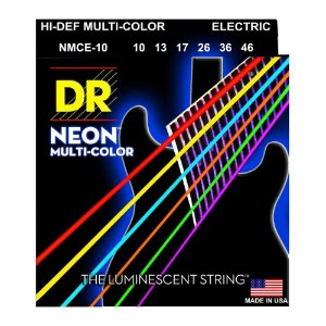 Encordoamento guitarra DR STRINGS - Neon multicolor 010 K3 NMCE10