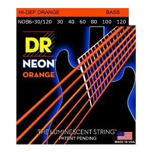 Encordoamento baixo 6 cordas DR STRINGS NEON 040 - Laranja