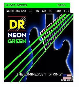 Encordoamento baixo 6 cordas DR STRINGS NEON GREEN 040 verde