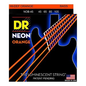 Encordoamento baixo 4 cordas DR STRINGS NEON ORANGE 045