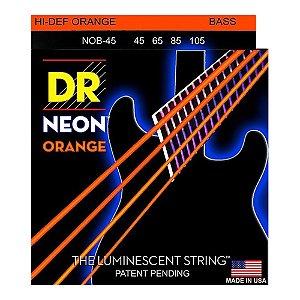 Encordoamento baixo 4 cordas DR STRINGS NEON ORANGE 045