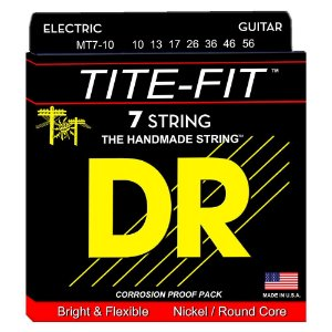 Encordoamento 7 cordas guitarra DR STRINGS MT7-10 tite-fit