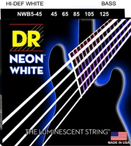Encordoamento Baixo 5 Cordas Dr Strings neon white NWB5-45