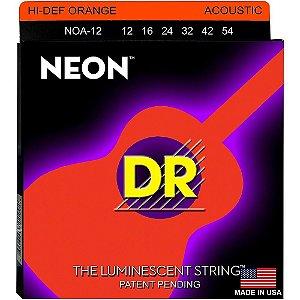 Encordoamento violão aço NEON ORANGE DR STRINGS 012 laranja