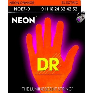 Encordoamento guitarra 7 DR STRINGS NEON ORANGE 09 - laranja