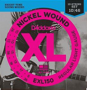 Encordoamento guitarra 12 corda DAddario 010 EXL150 original