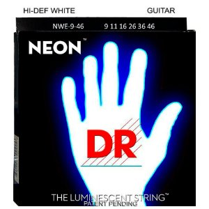 Encordoamento Neon Branca Guitarra Dr Strings 09 Nwe-9 C/ Nf