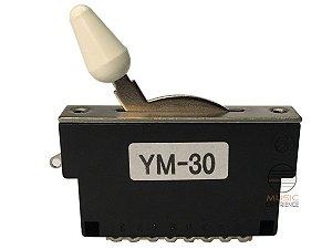 Chave seletora 3 posição Gotoh Ym 30 branca ORIGINAL c/ NF