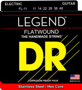 Encordoamento 011 Dr Polished Flatwound Fl11 Lisa P/guitarra