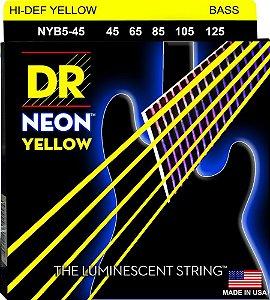 Encordoamento Baixo 5 Cordas Dr Strings Neon 045 AMARELO