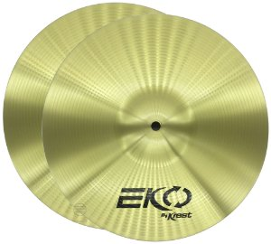 Prato Hi Hat Chimbal 13 Krest EKO Ecol13hh Brass
