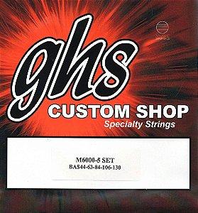 Encordoamento baixo 5 cordas 044 GHS M6000-5 jogo corda