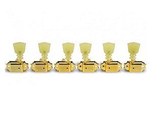 Tarraxa Kluson 3+3 trava Deluxe dourada Keystone KDL-3 Gold