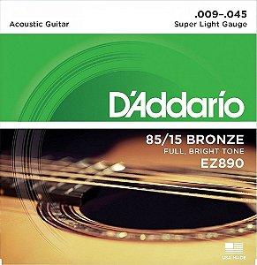 Encordoamento DAddario violão aço 09 EZ890 1a corda gratis