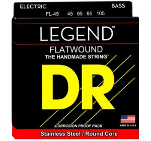 Encordamento baixo Flatwound DRS FL-45 045 - 4 corda lisa