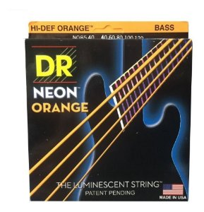 Encordoamento baixo 5 cordas DR STRINGS NEON ORANGE 040