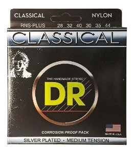 Encordoamento violão nylon DR STRINGS classical - Prata RNS