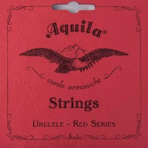 Encordoamento AQUILA 83u ukulele soprano High G red ITALY