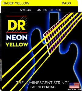 Encordoamento DR Strings NEON Yellow 045 4 C NYB-45 AMARELO