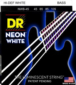 Encordoamento DR Strings NEON white 045 4 C NWB-45 BRANCA