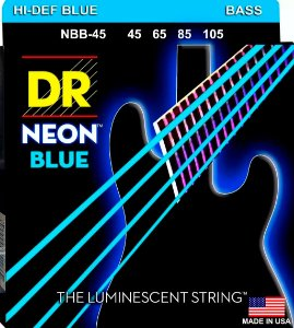 Encordoamento DR Strings NEON Blue 045 4 cordas NBB-45 azul