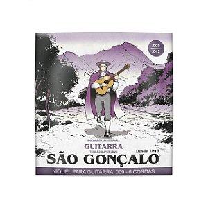 Encordoamento guitarra 09 jogo corda São Gonçalo