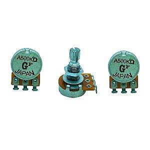 Potenciometro Gotoh A500K Log T16-18K Japan kit com 3 unidades