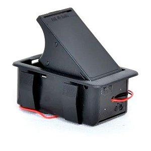 Compartimento caixa de bateria 9v baixo ativo guitarra