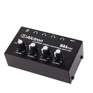 Amplificador fone 4 canais Stereo HA4 PLUS Alctron portatil
