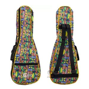 Bag capa Ukulele Concert colorido reforçado resistente