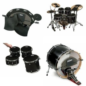 Kit abafador EVANS bateria SOUNDOFF completo STD SO-SET-STD