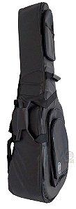 Capa semi bag violão Folk Lona veludo 3 bolsos premium BK