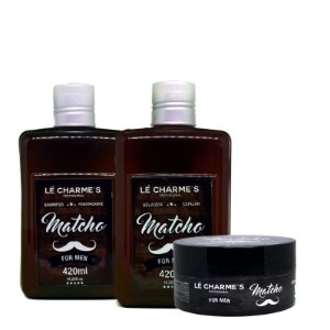 Linha Matcho - Shampoo + Selagem 2x420ml + Cera 125g