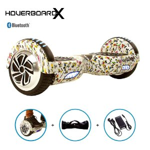 """Hoverboard 6,5"""" Mickey Mouse Branco HoverboardX Bluetooth"""