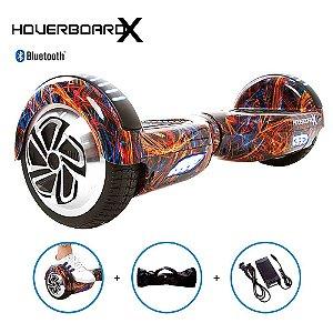 """Hoverboard Elétrico 6,5"""" Flash Color HoverboardX Bluetooth"""