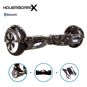 "Hoverboard Skate 6,5"" Las Vegas Black HoverboardX Bluetooth"