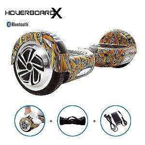 "Hoverboard Skate Elétrico 6,5"" Minions HoverboardX Bluetooth"