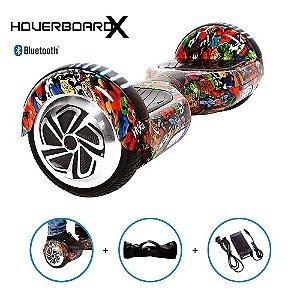 "Hoverboard 6,5"" Capitão América HoverboardX Bluetooth"