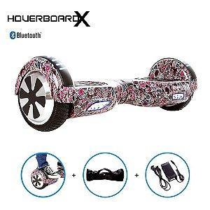 Hoverboard 6,5 Caveira Mexicana Roxa HoverboardX Bluetooth