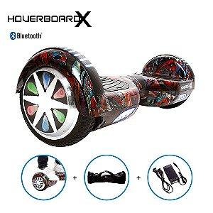 Hoverboard Elétrico 6,5 HQ Homem Aranha HoverboardX + Bolsa