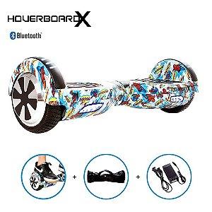 Hoverboard Elétrico 6,5 HQ Homem Aranha Azul HoverboardX