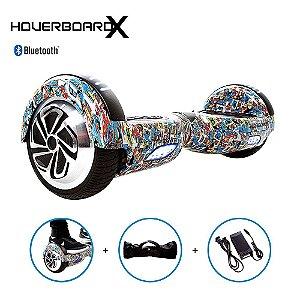 """Hoverboard Skate 6,5"""" Liga da Justiça HoverboardX Bluetooth"""
