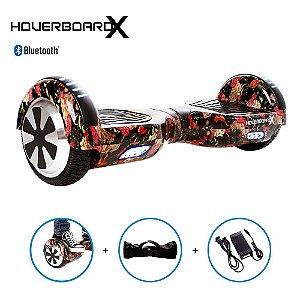 Hoverboard 6,5 Caveira Mexicana Flores HoverboardX Bluetooth
