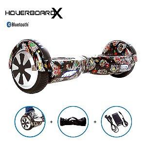 Hoverboard 6,5 Caveira Mexicana Preta HoverboardX Bluetooth