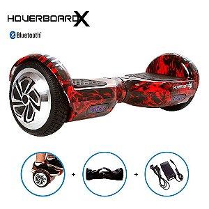 Hoverboard Skate Elétrico 6,5 Red Fire Barato Bluetooth Led