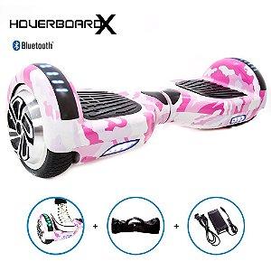 Hoverboard 6,5 Rosa Militar HoverboardX SmartBalance c Bolsa