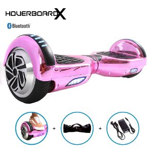 Hoverboard 6,5 Polegadas Rosa Cromado HoverboardX Scooter
