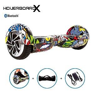 Hoverboard Skate Elétrico 6,5 Hip-Hop Barato Bluetooth Led